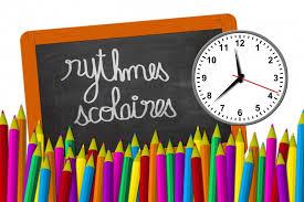 Rythmes scolaires – rentrée 2017 – 2018