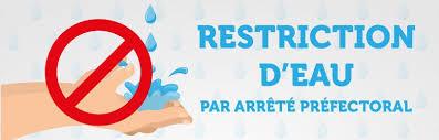 Arrêté Préfectoral : Mesures de restriction d'usage de l'eau